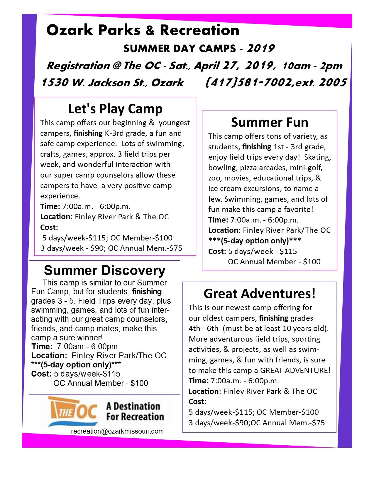 Summer Camp Flyer - Summer 2019 with registration date (002)