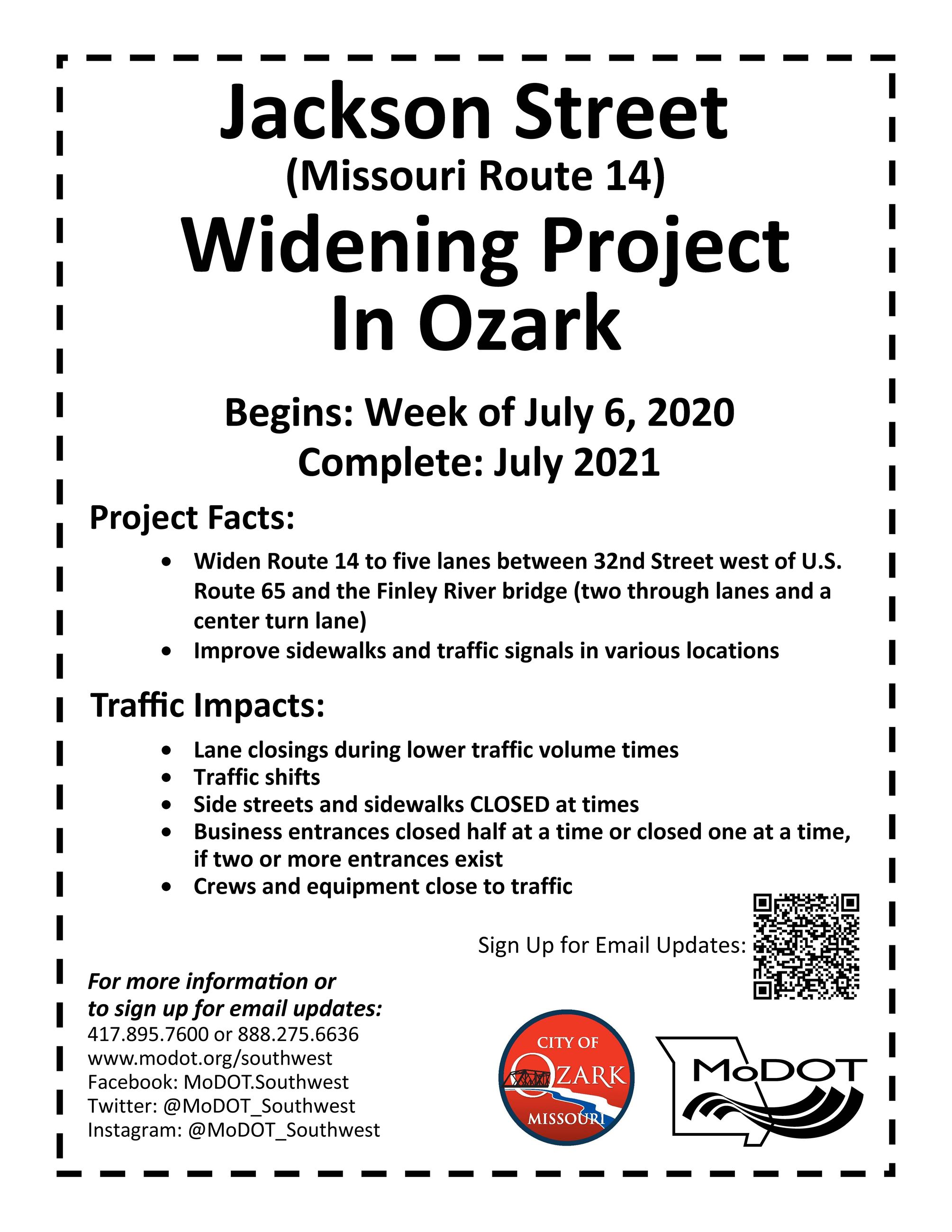 Construction Flier for MO 14 Widening in Ozark (1)